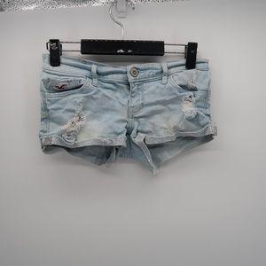 Hollister Cuffed Distressed Jean Denim Shorts